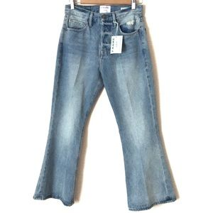 Frame Le Cropped Flare Jeans